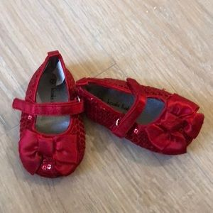 Other - Baby red sequin holiday red shoes